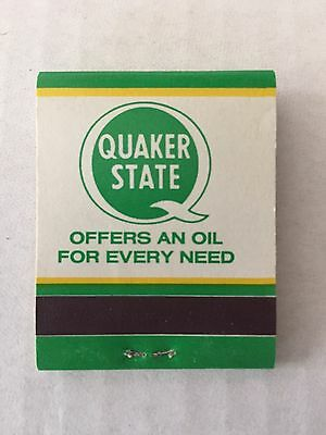 Vintage Quaker State Oil Case Of 50 Match Covers NOS