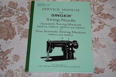 Full Edition 92-Page Service Manual for Singer 306, 306W, 306K, Sewing Machines