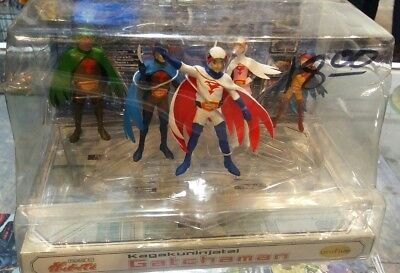 RARE UNIFIVE GATCHAMAN FIGURE SET Battle of the Planets G-Force 2001 NEW OBO