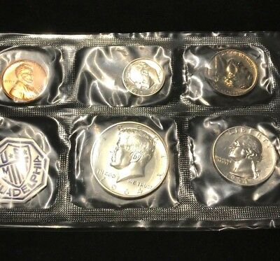 1964 PROOF MINT SET PHILADELPHIA P US SILVER - 5 COIN        -  u29
