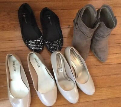 WOMENS JUNIORS LOT OF SHOES HEELS BOOTS SIZE 9 And 9.5 9 1/2 Lot Of 4 Brown Nude