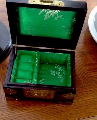 Vtg.Chinese Jewelry Small Box Rosewood  new.