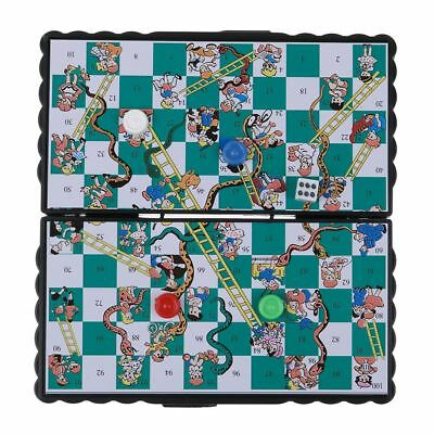 Snakes and Ladders and Ludo Chess Game Traditional Family Travel Kids FUN Toys