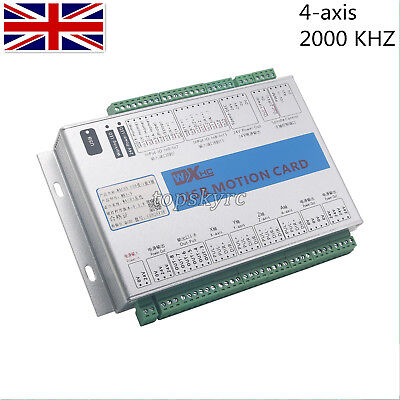 4 Axis Mach3 Upgrade CNC USB Motion Control Card Breakout Board 2000KHZ MK4 UK