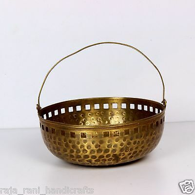 Miscellaneous India Vintage Old Indian Antiques Handmade Brass Bowl Rich Patina
