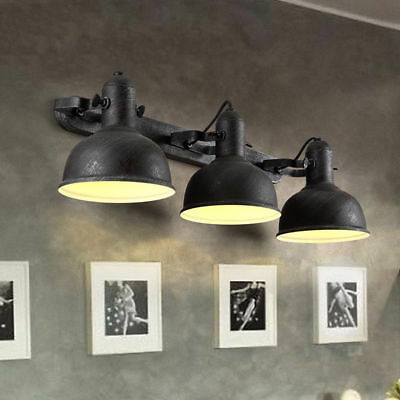 Industrial Wall Light Metal Round Dome Shaded Retro Adjustable Indoor Sconce