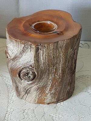 Tasmanian Huan Pine Candlestick Holder.  Only Grows In Tas On This Planet!