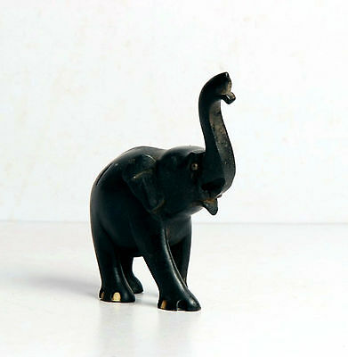 Rare Indian Vintage Hand Crafted Wooden Elephant Statue Figurine Sculpture-4949
