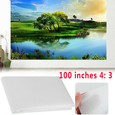 Hot!!! Foldable 4:3 HD 100inch Projector Screen Curtain Outdoor Courtyards