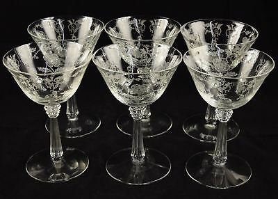 Lot of 6 Vintage Fostoria Shirley Tall Sherbet Champagne