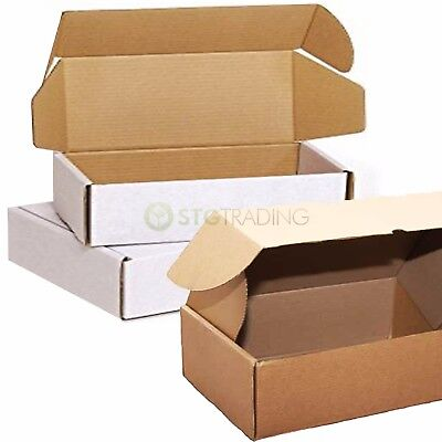 White Brown Die Cut Folding Lid Cardboard Boxes Mailers C4 C5 C6 PIP FULL RANGE