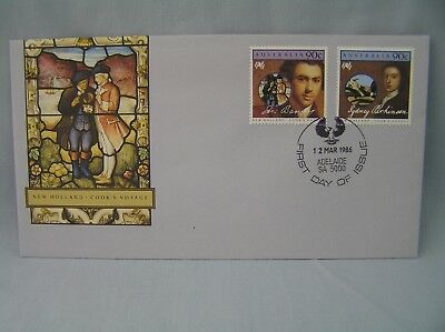 First Day Cover Australia - New Holland Cook's Voyage - 1986