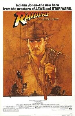 Raiders Of The Lost Ark Replica 1981 Movie Poster