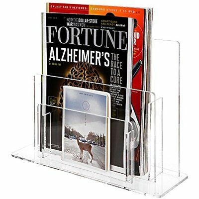 File Folder Racks & Holders Tier Clear Acrylic Desktop Magazine Paper Organizer