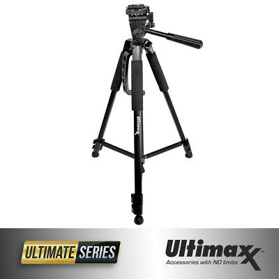 "60"" Inch Pro Series Full Size Heavy Duty Universal Camera Video Tripod (Black)"
