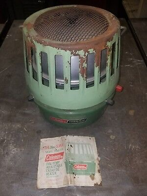 Coleman Catalytic Heater 3000-5000 BTU Dial Temp Adjustable Model 513A  1970's