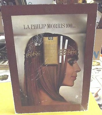 Ancien Carton Publicitaire PLV. LA  PHILIP MORRIS photo  S. WEISS