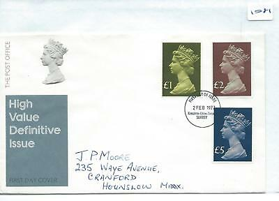 GB - FIRST DAY COVER - 1081 - SPECIALS - 1971 - MACHIN decimal values to £5.00