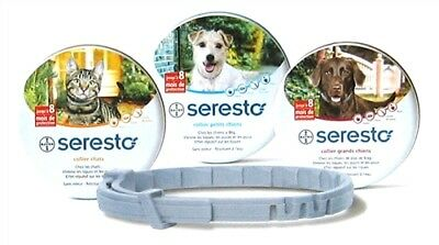 Seresto Flea & Tick 8 Month Collar for cats and dogs BAYER Free shipping