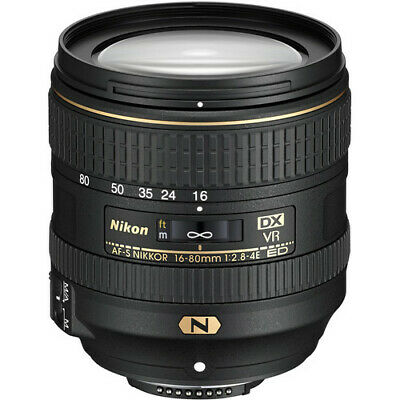 Nikon AF-S DX NIKKOR 16-80mm f/2.8-4E ED VR Zoom Lens with Auto Focus for Nikon
