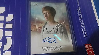 2016 Topps Star Wars Rogue One Genevieve O'reilly Mon Mothma Auto Sp Autograph