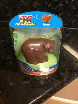 New Fisher Price Little People BROWN BEAR Zoo Talkers Zootalkers Sound Animal
