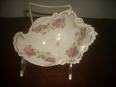MZ Austria fine porcelain candy dish hand painted new perfect conditio