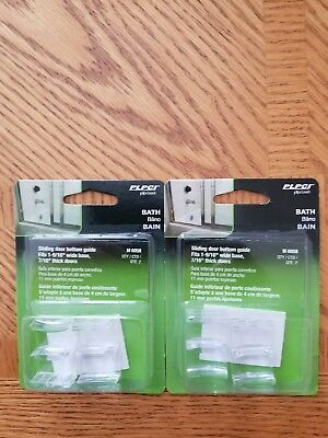 2 Packs (4 Pieces) Prime-Line Shower Door Bottom Guide Assembly # M-6058