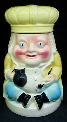 Vintage 50s OLD KING COLE RRPCO Robinson Ransbottom Pottery Co Cookie Jar AS IS