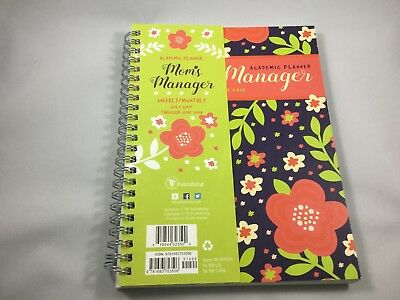 Mom's Manager Academic Planner Weekly Monthly 7/2017 - 6/ 2018 New Reduced
