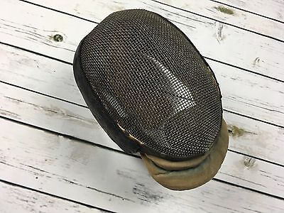Antique Vintage Metal Wire Leather Fencing Mask Helmet Castello NYC Steampunk