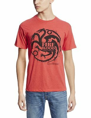"Game Of Thrones TARGARYEN SIGIL FIRE AND BLOOD ""DRAGON"" T-Shirt Tee NWT Licensed"