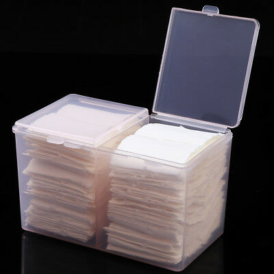 Nail Art Makeup Remover Cotton Pad Wipes Empty Storage Container Box