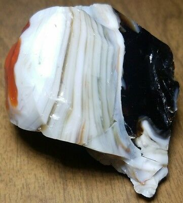 ☆WILD☆ 4 COLOR SWIRL Akro Agate Marble Cullet Scrap Glass Gem Stone RARE 5.6 OZ
