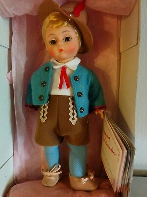 Vintage Madame Alexander Austria Boy Doll  Original Box W/ Tags 7""