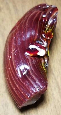 °FOSSILIZED° CHERRY RED Akro Agate Marble Cullet Scrap Glass Gem RARE 3.2 OZ