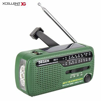 Multi-function Portable FM/AM Radio Solar Powered Hand Crank Emergency Charger