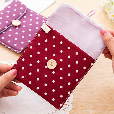 Girls Bowknot Sanitary Napkins Pads Carrying Easy Bags Small Pouch Case Bags BH