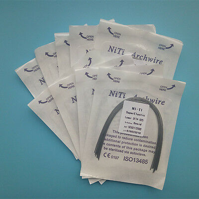 10 Packs Dental Orthodontic Arch Wires Super Elastic NiTi Rectangular Ovoid Form