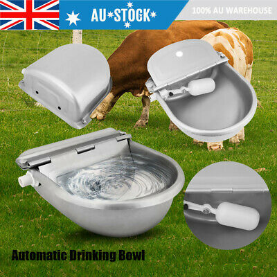 AU Stainless Water Trough Bowl Automatic Drinking for Horses Goats Dog Cat Pet