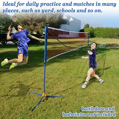 Badminton Net Volleyball Tennis Family portable Net w Stand Sport