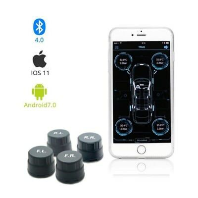 Smart Car TPMS Bluetooth 4.0 Tire Pressure Monitoring System 4 External Sensors
