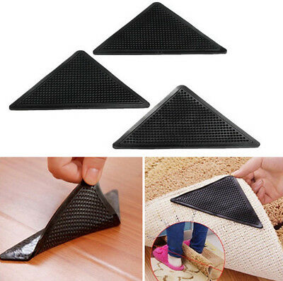 Home Rug Carpet Mat Gripper Non Slip Anti Skid Reusable Washable Silicone Grip