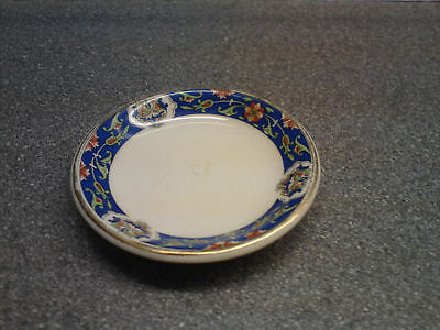 """Booths Blue And White Patterned Pin Dish 3"""" Across"""