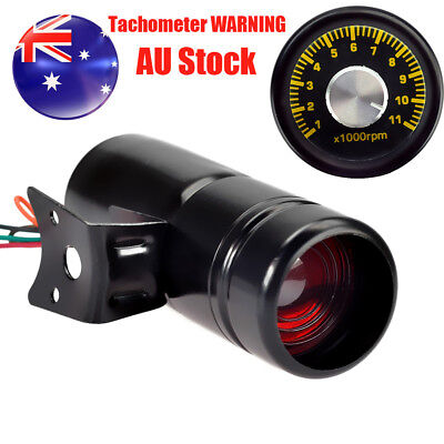 1000-11000RPM Adjustable Tachometer Gauge Shift Light WARNING Lamp Red LED Light