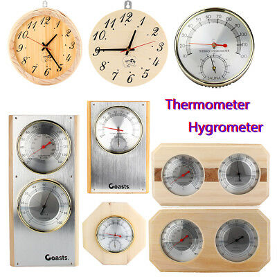 Wooden Sauna Hygrothermograph Thermometer Hygrometer Sauna Room Accessory