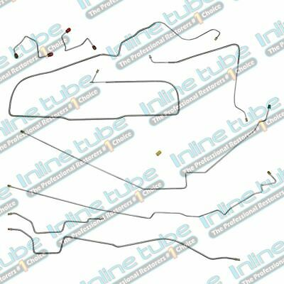 87-95 Jeep Wrangler YJ Power Disc Brake Line Kit Set No ABS STAINLESS Steel 7pc