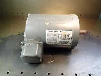 GE 1.5 1-1/2 HP Electric Motor 208-230/460V, 3PH, 1725 RPM, fr. 145TC, Used Good
