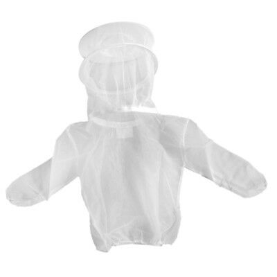 Beekeeping Jacket Pull Over Protective Veil Bee Keeping Suit Hat White#2