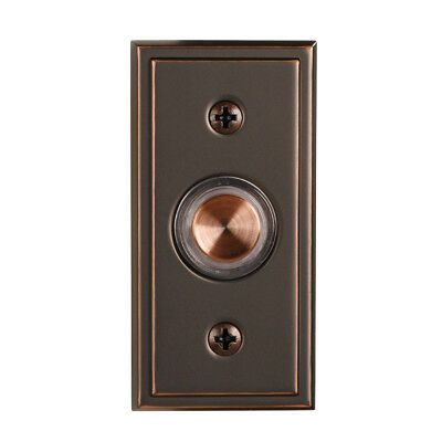 Antique Copper Doorbell Button Metal Push Button With Bronze Finish And LED